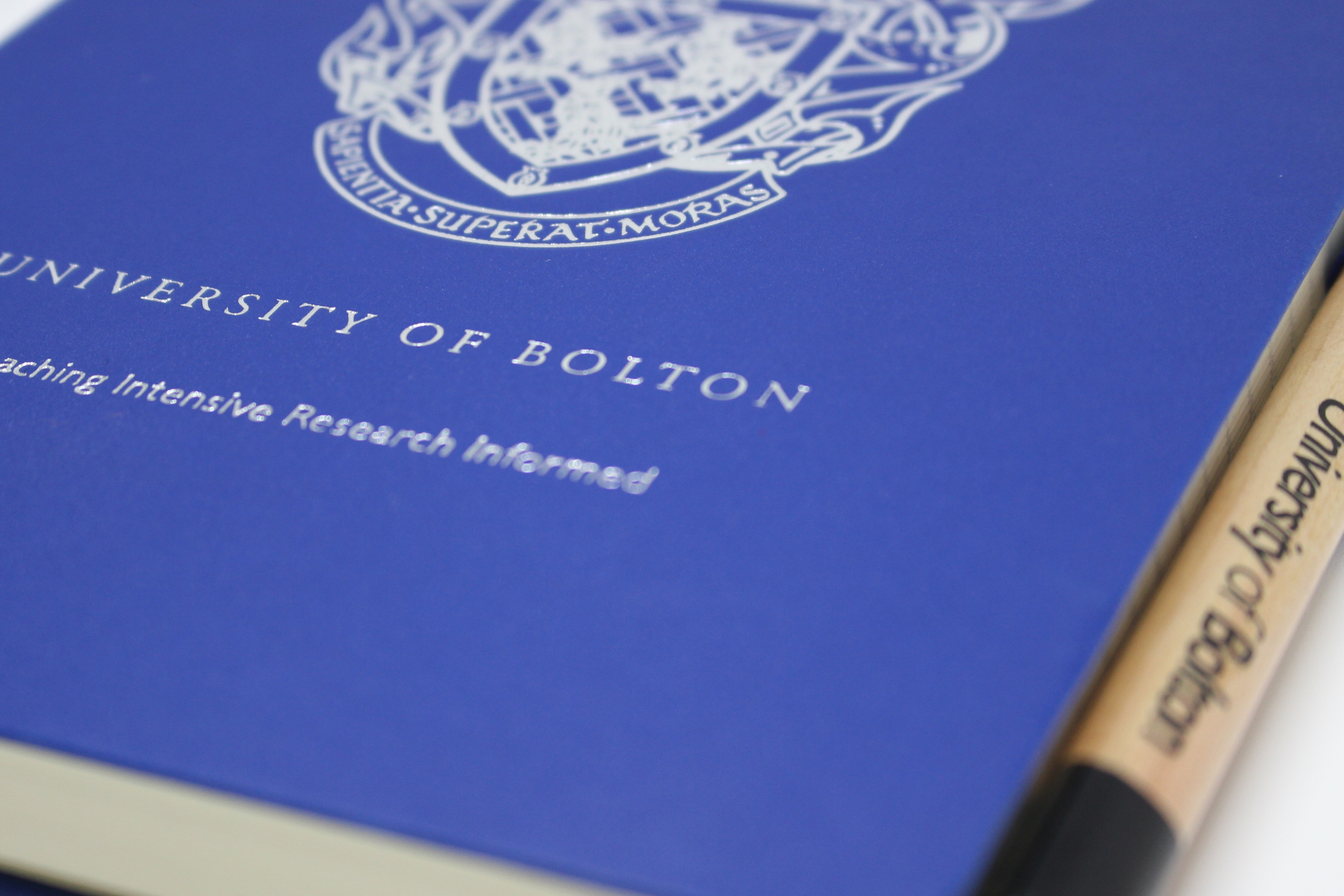 Bolton University Branded Foil Blocked Notebook