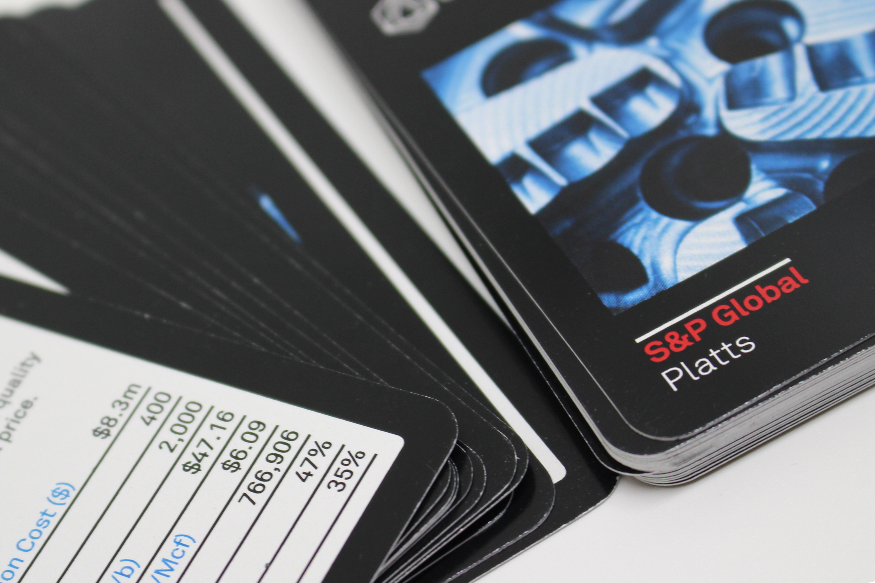 S&P Platts Branded Custom Playing Cards